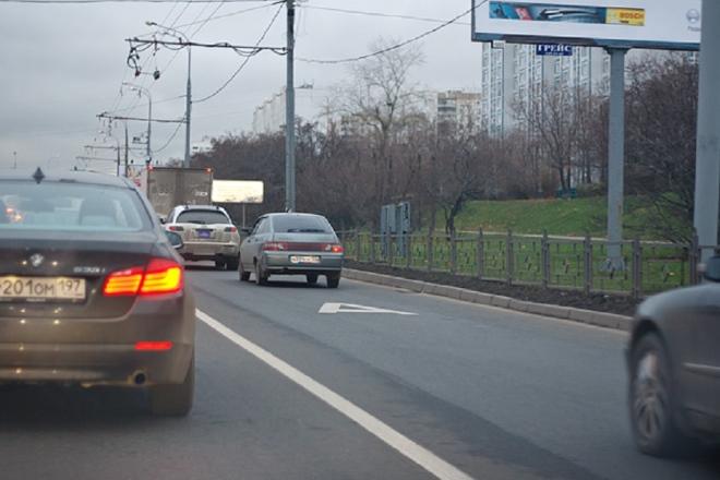 Движение по автобусной полосе