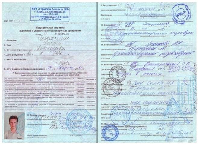 Медицинская справка установленного образца 2017 Прикрепление к поликлинике Бабушкинский район
