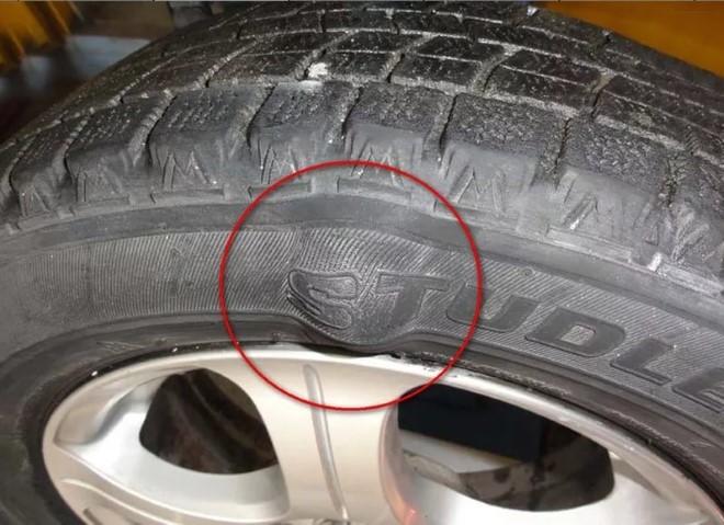 Кила на шине - неисправность авто
