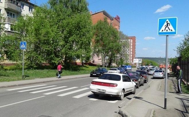 Стоянка в населенном пункте перед пешиходным переходом