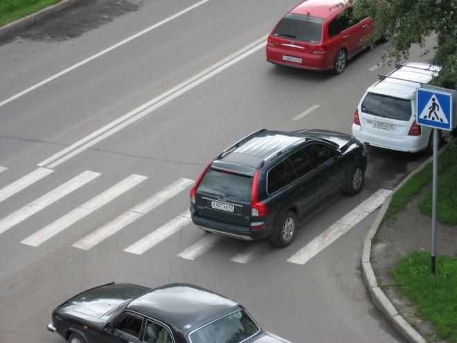 Нарушение на пешеходном переходе