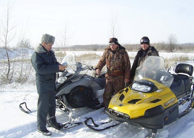Штраф за езду на снегоходе без прав