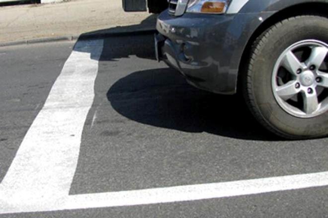 Стоп линия для остановки авто