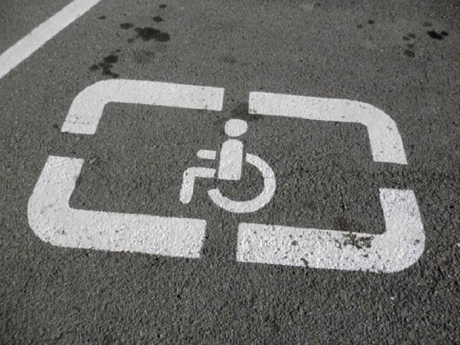 Установка знака Инвалид