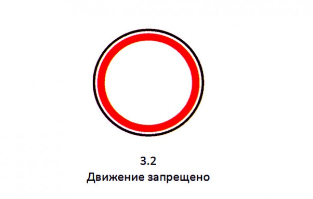 """Знак 3.2 """"Движение запрещено"""""""