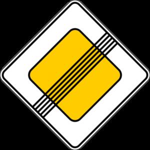 Знак - Конец Главной дороги